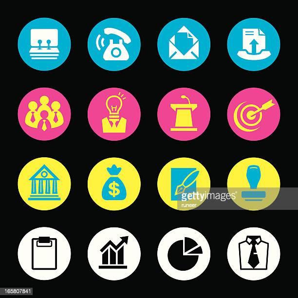 cmyk icons (business & marketing) - rolodex stock illustrations, clip art, cartoons, & icons