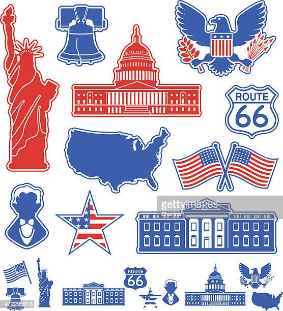usa icons - liberty bell stock illustrations
