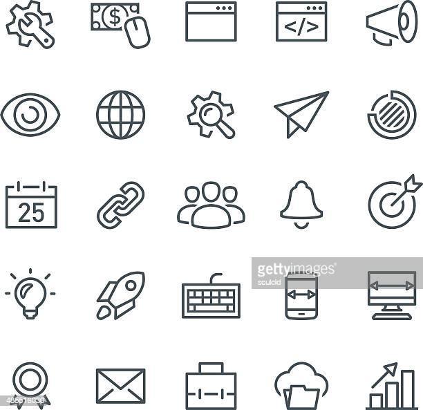 seo icons - human eye stock illustrations