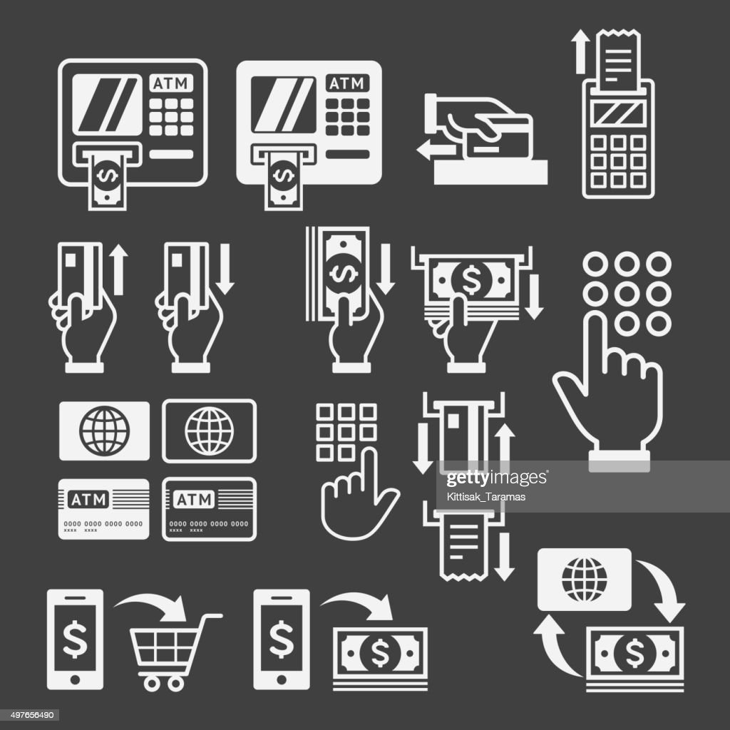 ATM icons.