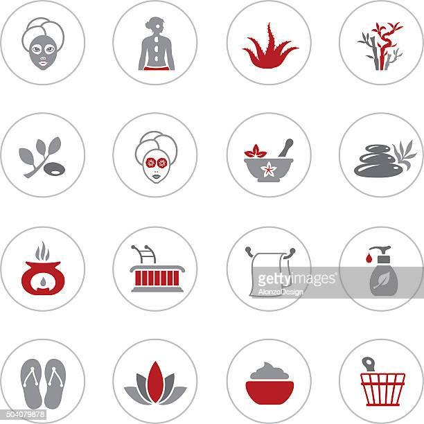 ilustrações de stock, clip art, desenhos animados e ícones de spa ícones - massagista