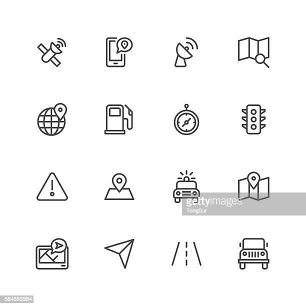 gps icons - fuel pump stock illustrations, clip art, cartoons, & icons