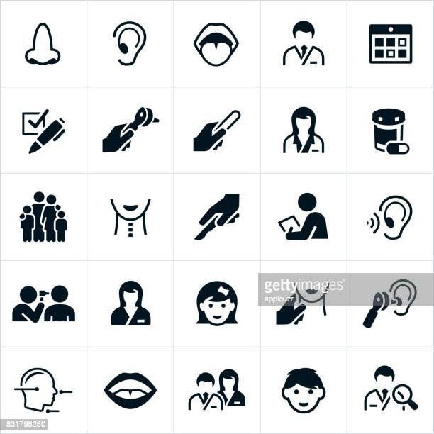 ent icons - ear stock illustrations, clip art, cartoons, & icons