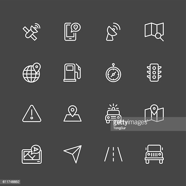 GPS icons - White Series