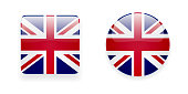 Icons with Union Jack flag