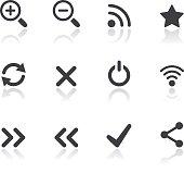 Iconset - Reflection - Basic Web & Computer 01