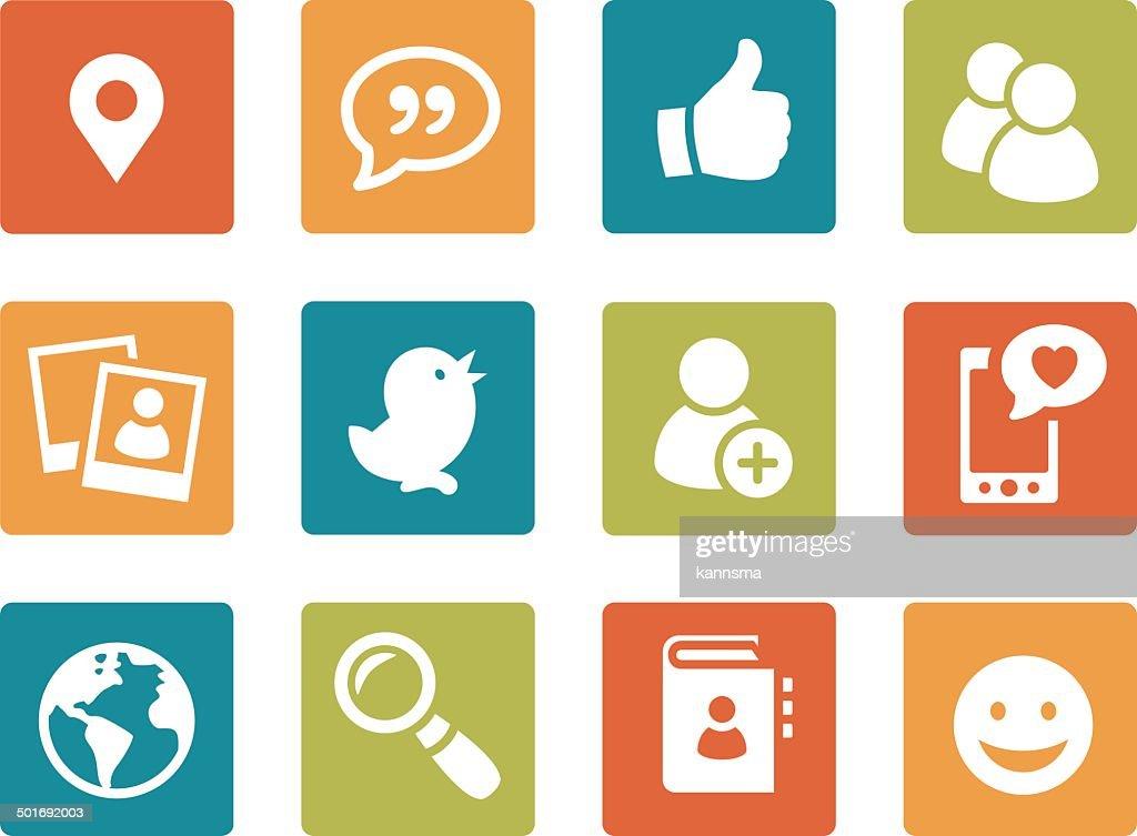 Iconset - vibrant square - Social Media 01