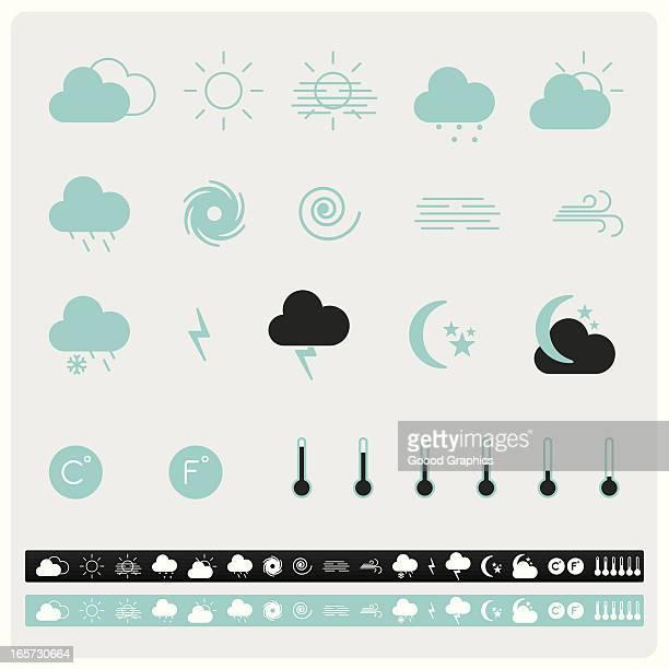 iconset weather icons - hurricane stock illustrations, clip art, cartoons, & icons