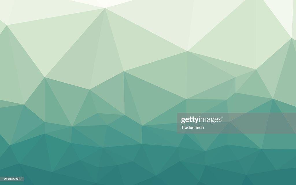 Icy Blu Sfondo Geometrico Verde Sfumato Illustrazione Stock Getty