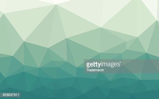 icy blue green geometric gradient background vector art