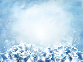 Icy cube background