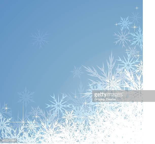 icy snowflake christmas background - frost stock illustrations, clip art, cartoons, & icons