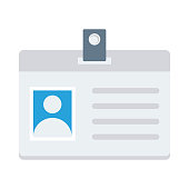 id card flat vector icon