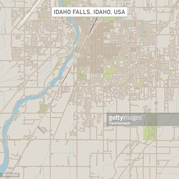 idaho falls idaho us city street map - idaho falls stock illustrations