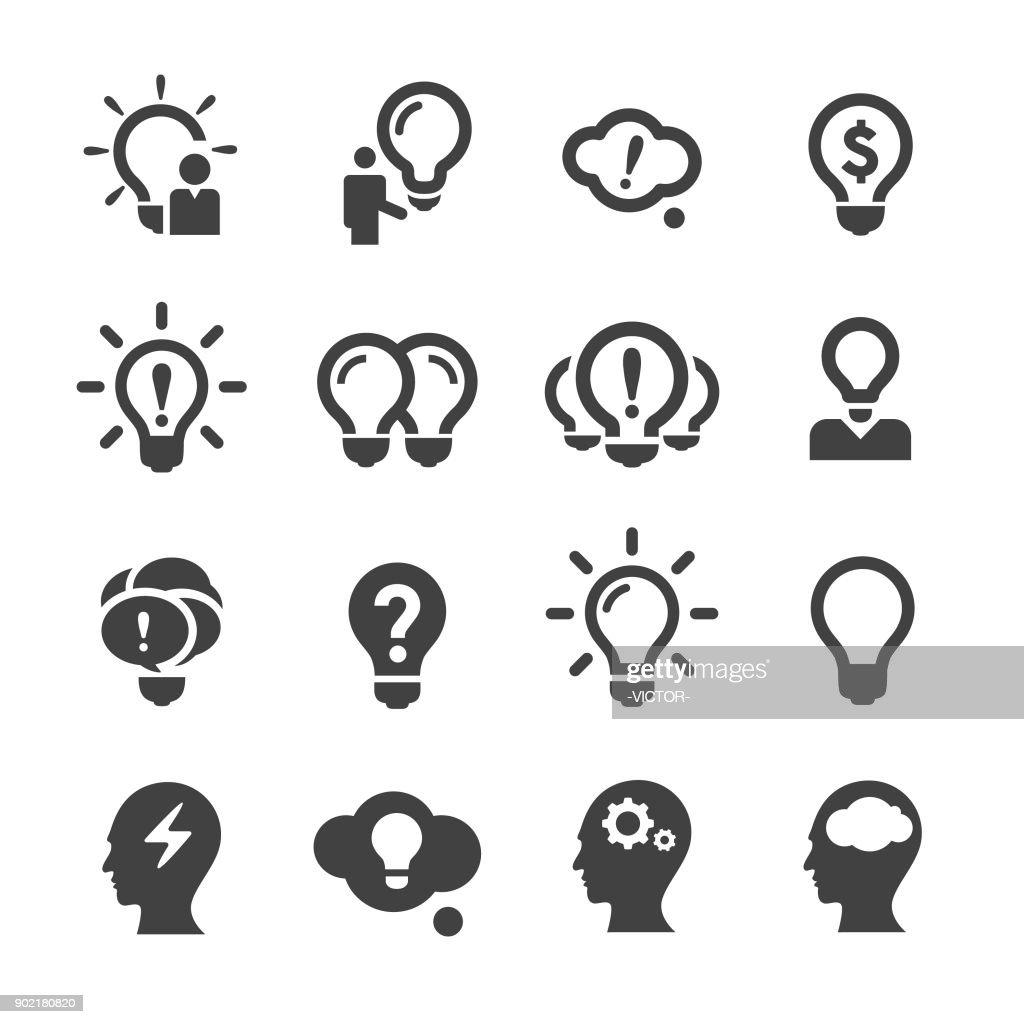 Idee und Inspiration Ikonen - Acme-Serie : Stock-Illustration