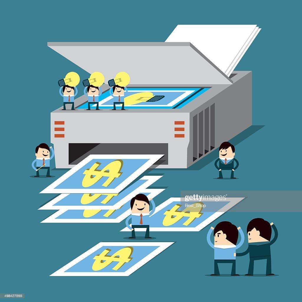 Idea and teamwork is money