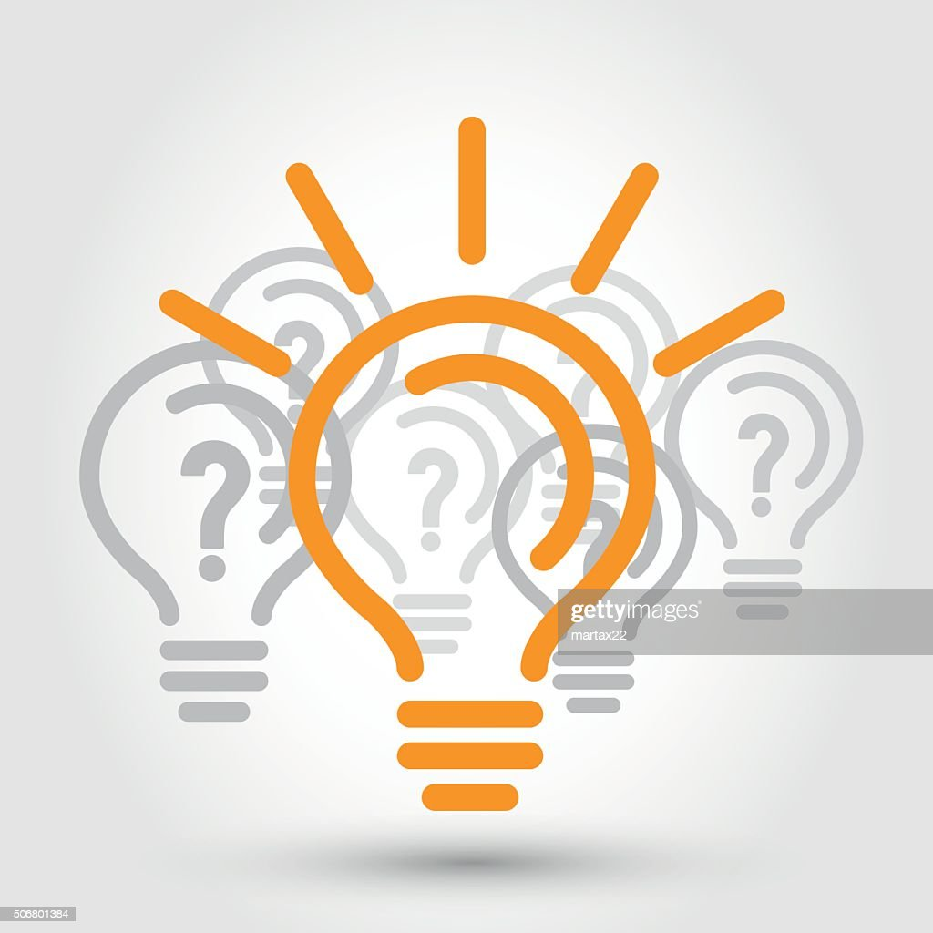 idea illustration with bulbs