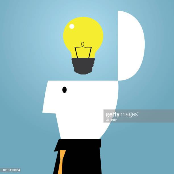 ilustraciones, imágenes clip art, dibujos animados e iconos de stock de idea de la inspiración - doble exposicion negocios