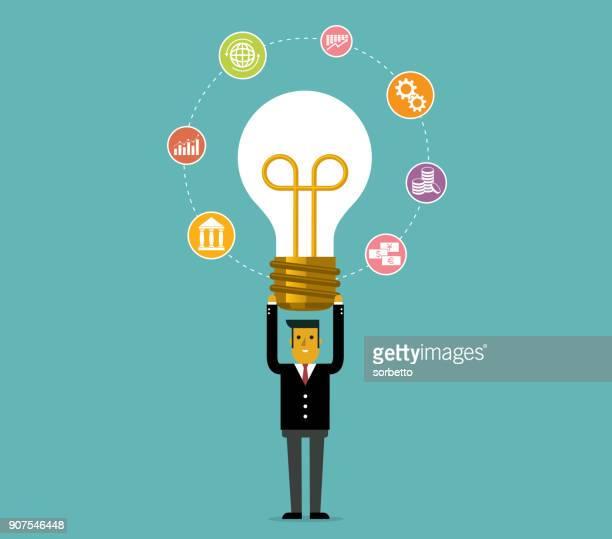 Idea - lightbulb - Businessman