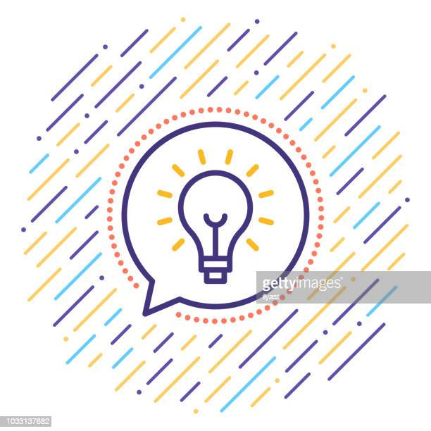 idea line icon - ideas stock illustrations