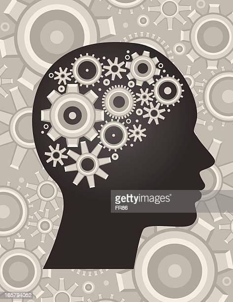 stockillustraties, clipart, cartoons en iconen met idea process - ziekte van alzheimer