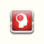 Idea Red Vector Icon Button