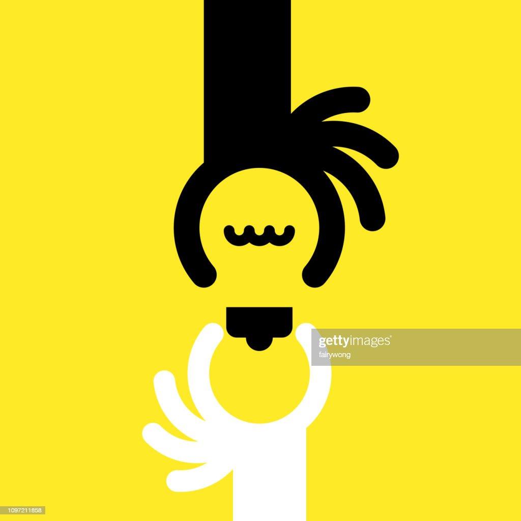 Idee mit menschlichen Händen : Stock-Illustration