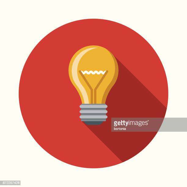 ideas flat design business icon with side shadow - light bulb stock illustrations