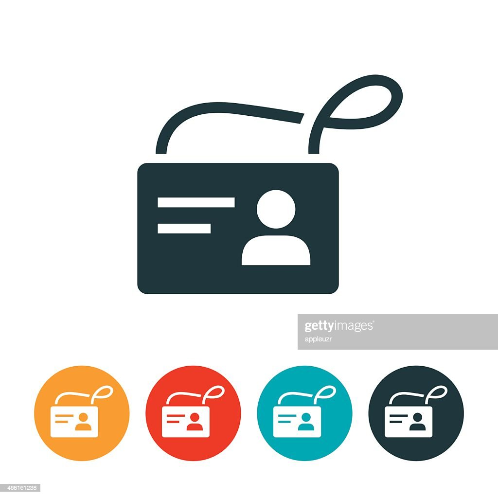 identification badge icon vector art getty images
