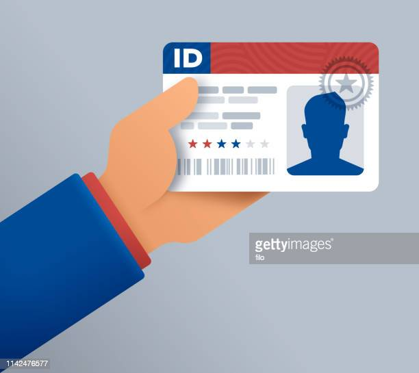 identification card drivers license - identity card stock illustrations