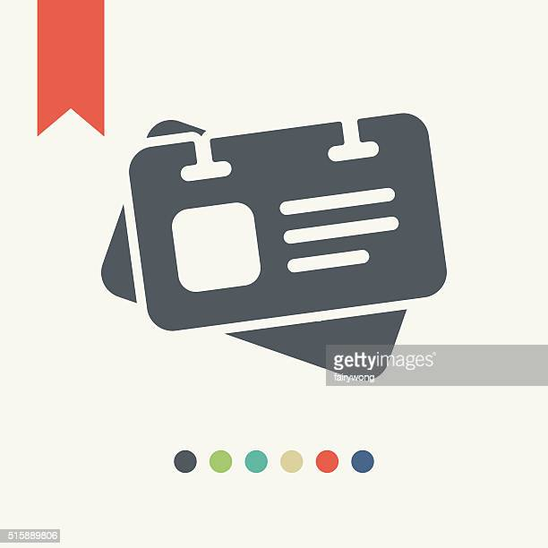 identification card icon - cardkey stock illustrations, clip art, cartoons, & icons