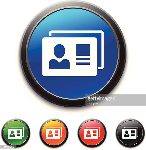 identification cards icon - security pass stock illustrations, clip art, cartoons, & icons