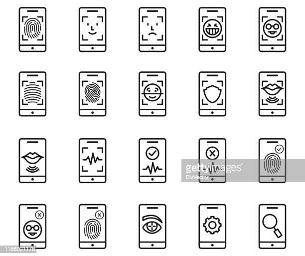 identifikationssymbolsatz - identität stock-grafiken, -clipart, -cartoons und -symbole