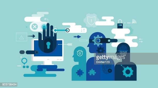 identity security - identity theft stock illustrations