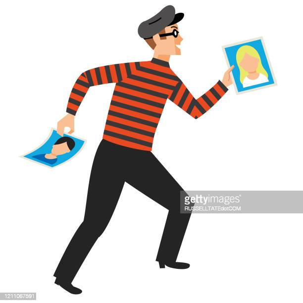 identity theft - identity theft stock illustrations