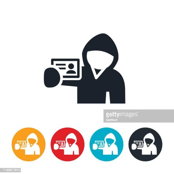 illustrations, cliparts, dessins animés et icônes de icône identité theif - permis de conduire