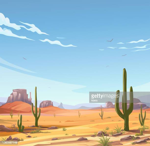 牧歌的な砂漠のシーン - 乾燥気候点のイラスト素材/クリップアート素材/マンガ素材/アイコン素材