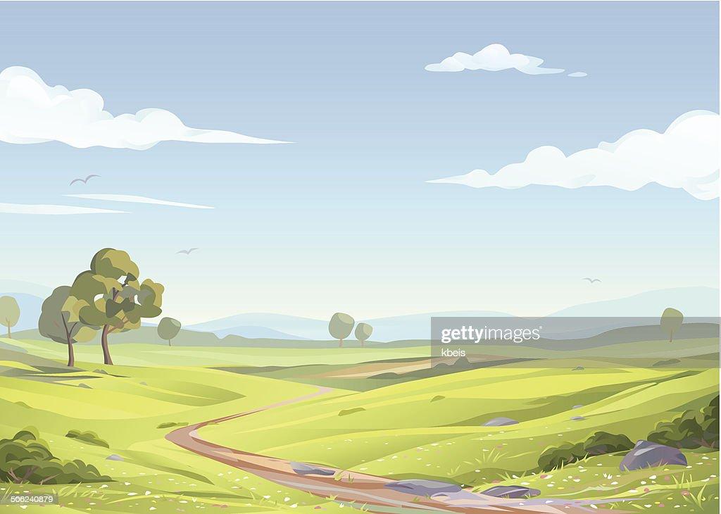 Idyllic Landscape : stock illustration