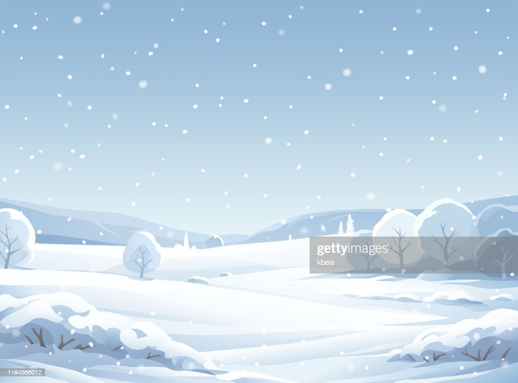 Idyllic Snowy Winter Landscape : stock illustration