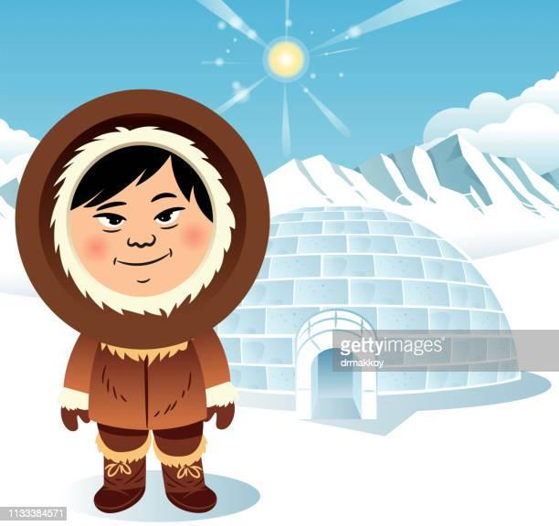 illustrations, cliparts, dessins animés et icônes de igloo et inuit - igloo