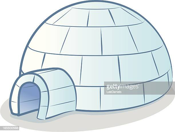 illustrations, cliparts, dessins animés et icônes de igloo dessin animé - igloo