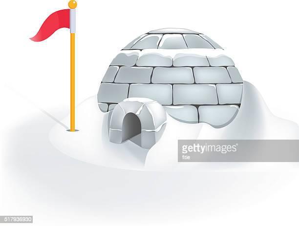 illustrations, cliparts, dessins animés et icônes de igloo glacière - igloo