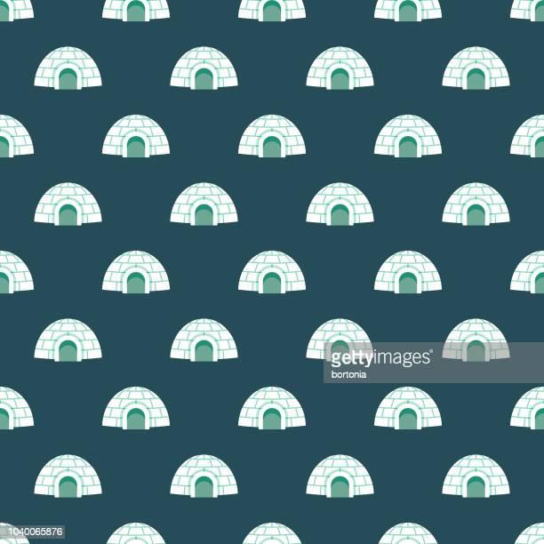 illustrations, cliparts, dessins animés et icônes de igloo seamless pattern - igloo