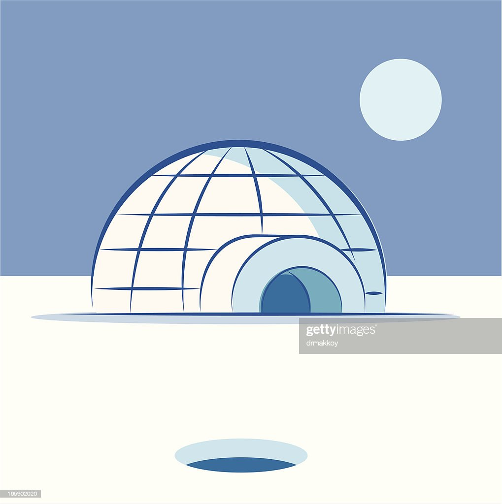 Igloo vector art getty images igloo vector art pooptronica