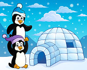 Igloo with penguins theme 3