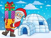 Igloo with Santa Claus theme 1