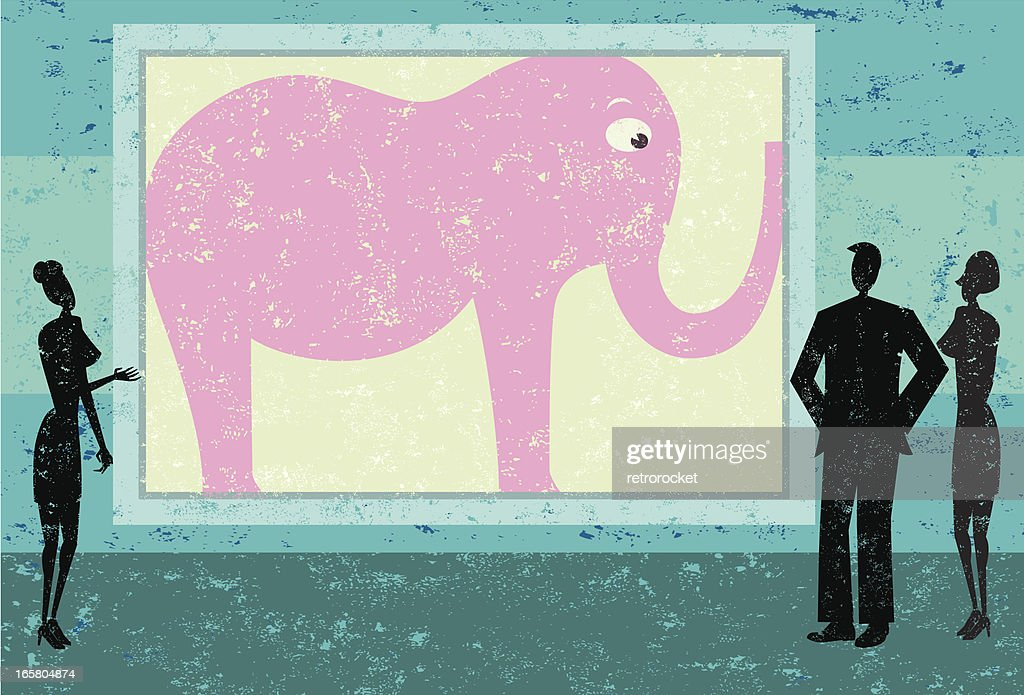 Ignoring the pink elephant in room