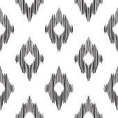 Ikat seamless pattern. Fashion wallpaper.