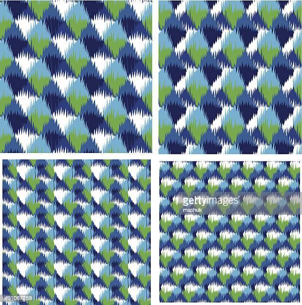 イカットシームレスなパターン - イカット点のイラスト素材/クリップアート素材/マンガ素材/アイコン素材