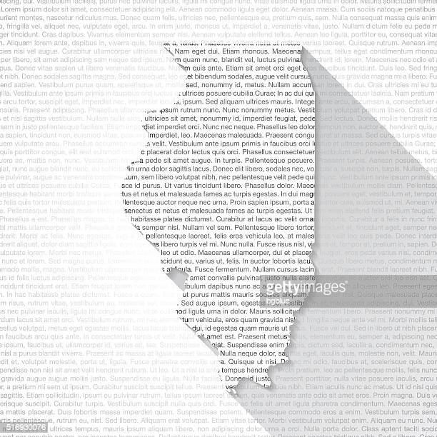 Illinois Map on Text Background - Long Shadow